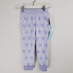 Girls Purple Star PJ Lounge Pants XS NWT